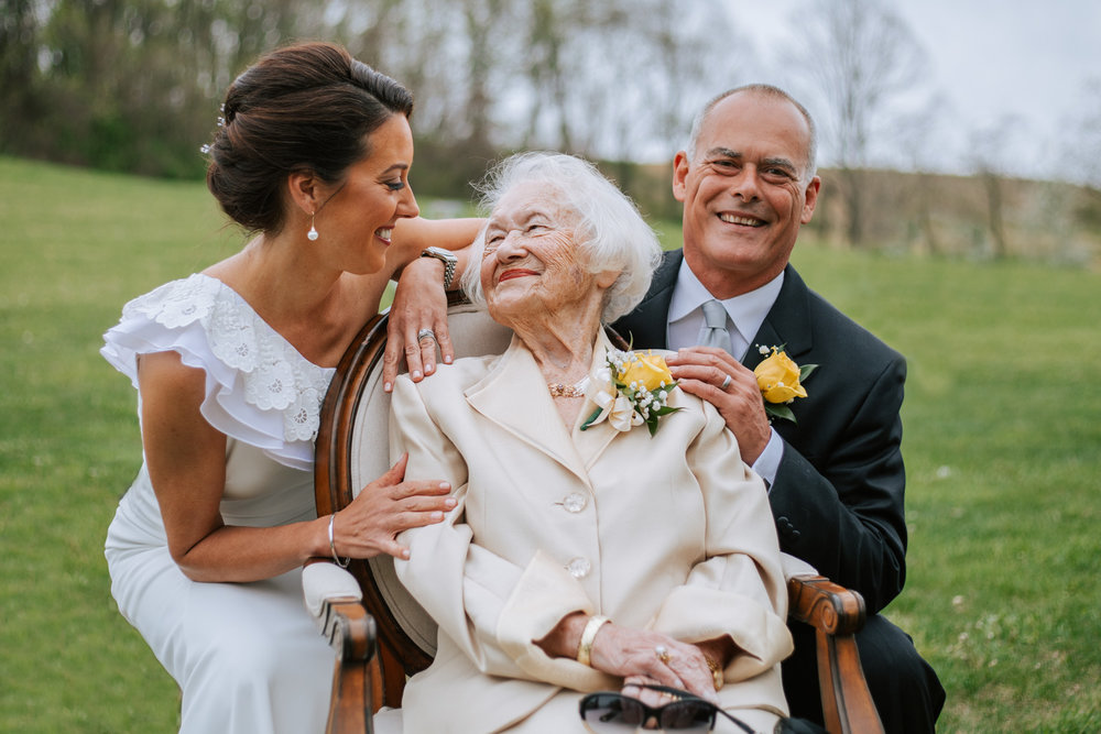 Shutter Up Studios   Wedding photographer in Pittsburgh, Pennsylvania   Outdoor formal family portraits with grandma
