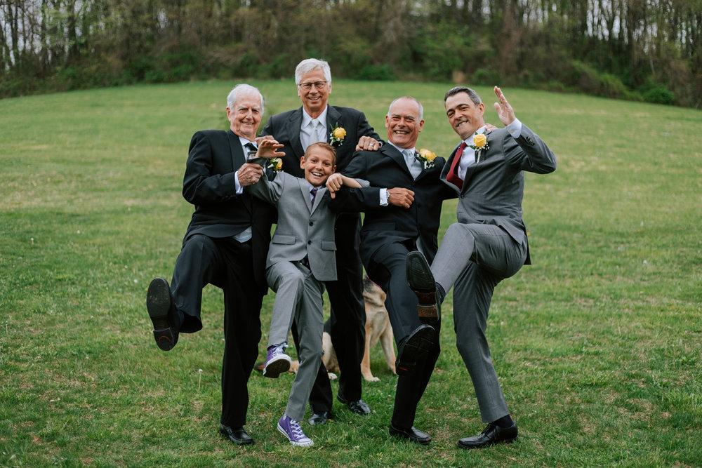 Shutter Up Studios   Wedding photographer in Pittsburgh, Pennsylvania   Groomsmen goofy