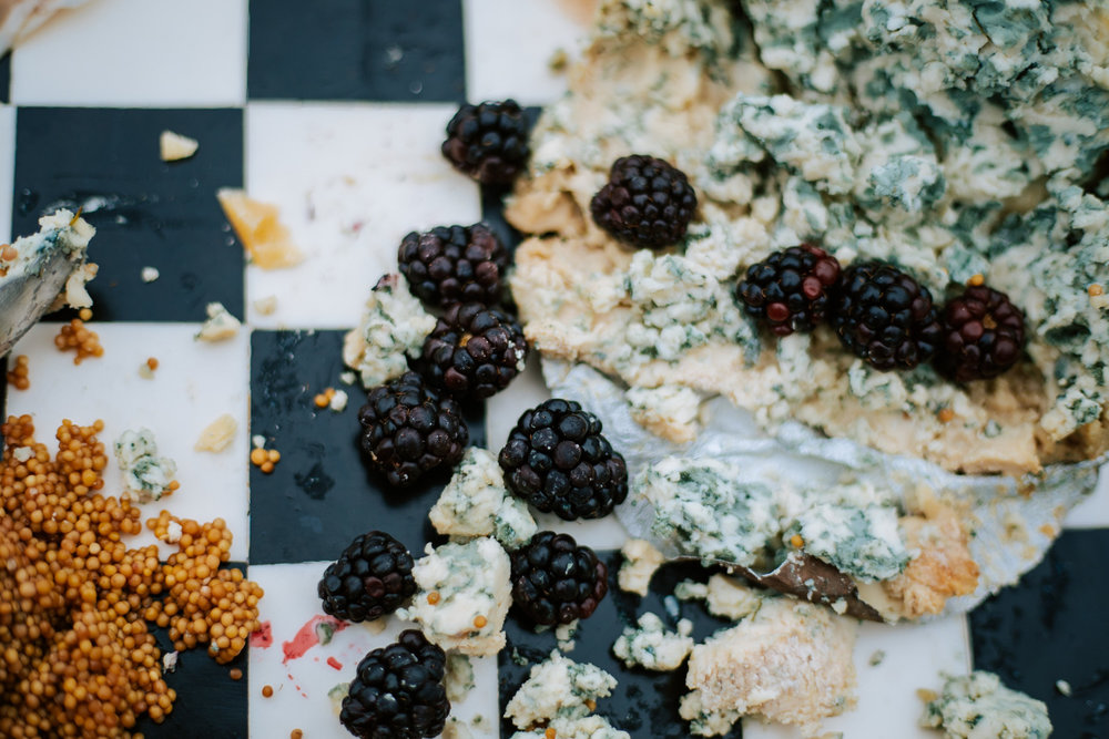 Shutter Up Studios   Wedding photographer in Pittsburgh, Pennsylvania   Blackberries and cheese appetizer