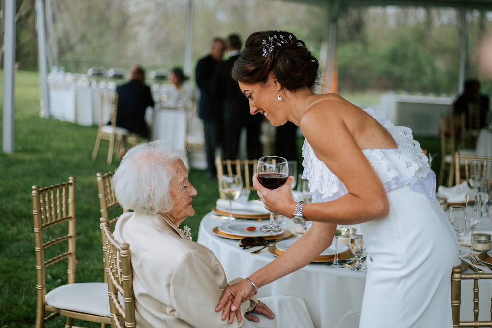 Shutter Up Studios   Wedding photographer in Pittsburgh, Pennsylvania   Bride with her grandmother candid photojournalism