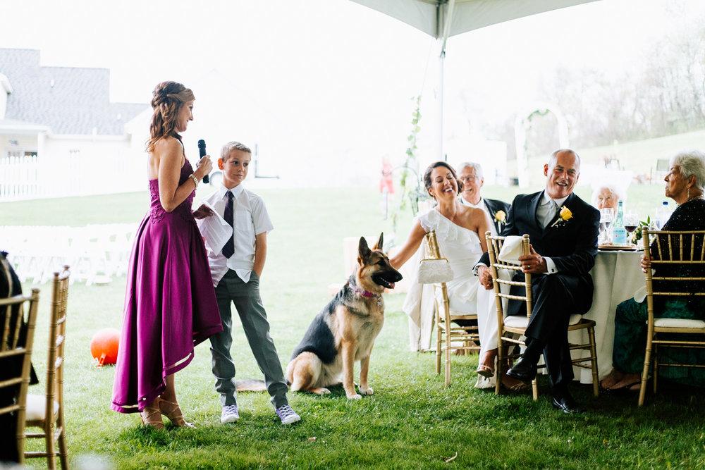 Shutter Up Studios   Wedding photographer in Pittsburgh, Pennsylvania   Matron maid of honor speech