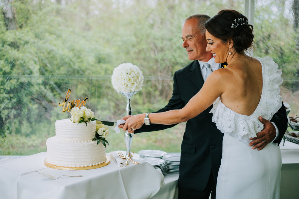 Shutter Up Studios   Wedding photographer in Pittsburgh, Pennsylvania   Bride and groom cake cutting