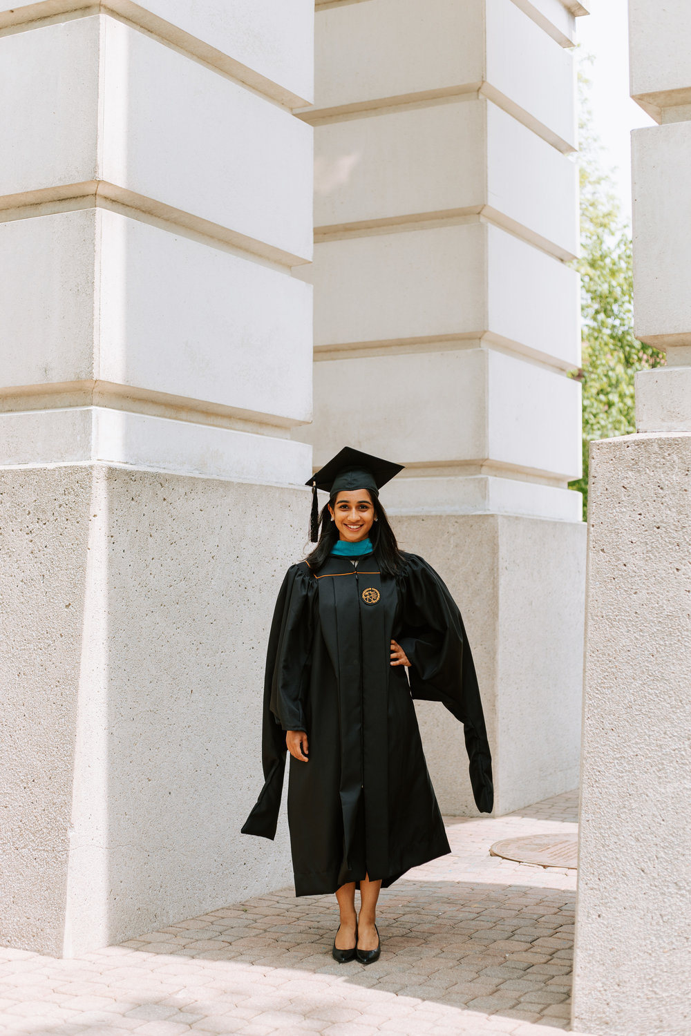 Shutter Up Studios | Senior photographer in West Lafayette, Indiana | Purdue graduation under bell tower