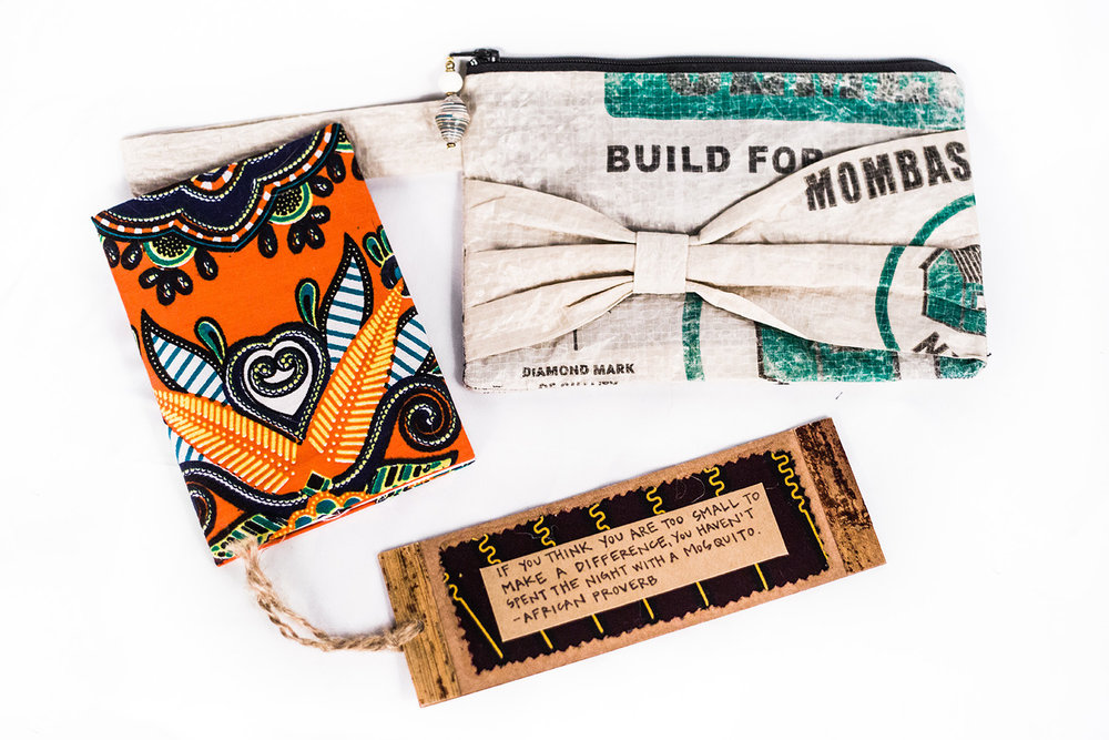 Shutter Up Studios | Commercial product photographer in Lafayette, Indiana | Fair trade artisan made school supplies with kitenge fabric and paper beads from Kibera slum, Nairobi, Kenya