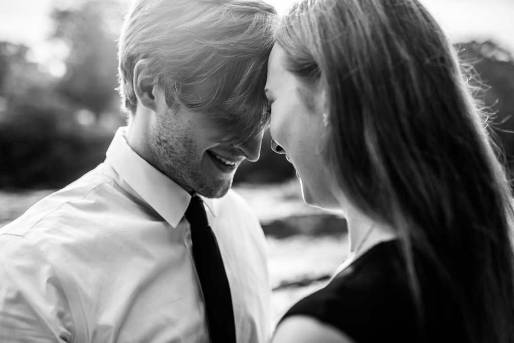 Shutter Up Studios | Playful romance at Cataract Falls in Cloverdale, Indiana | Black and white couples portrait