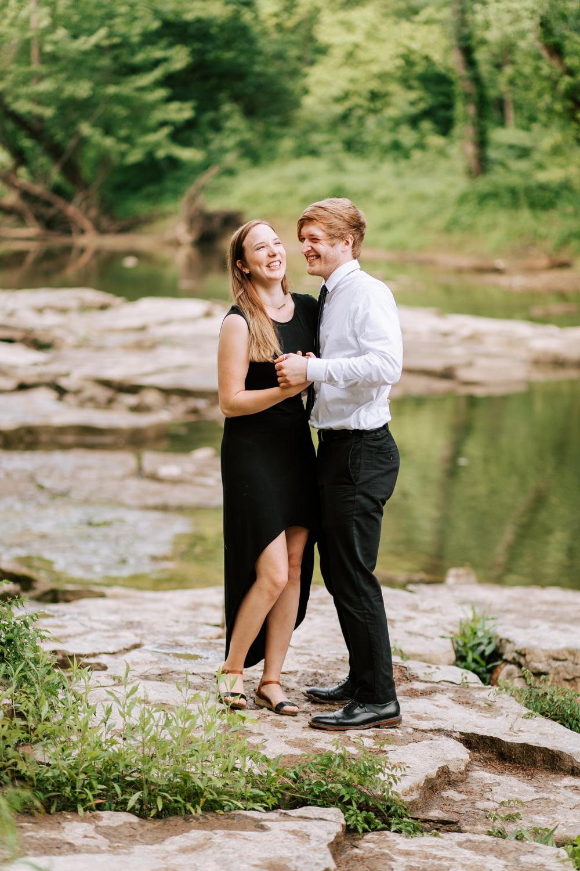 Shutter Up Studios | Playful romance at Cataract Falls in Cloverdale, Indiana