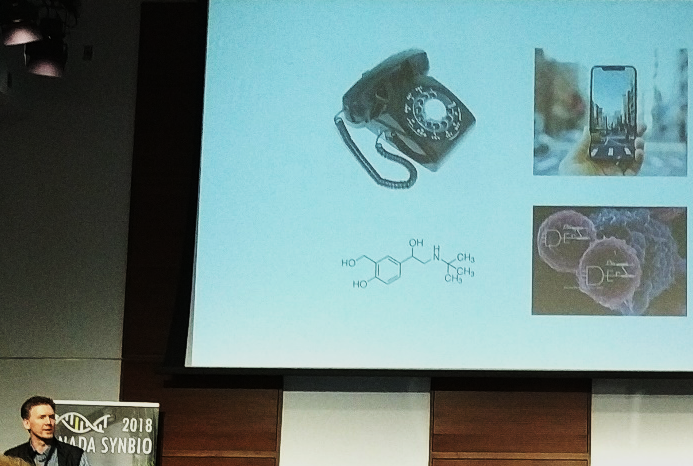 A fun analogy from Dr. Rob Holt (University of British Columbia) comparing small molecule therapy to synthetic biology.