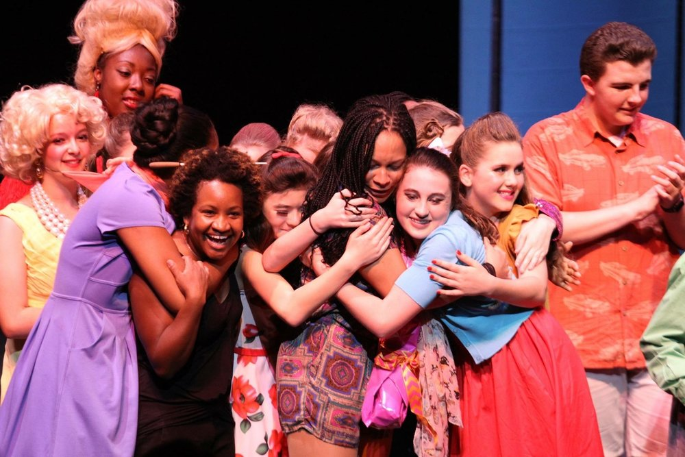 Hairspray Curtain Speech Hug.JPG