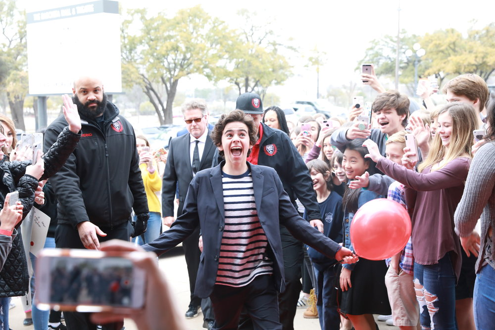 Jack Dylan Grazer at an ADDERLEY SCHOOL event in Austin.