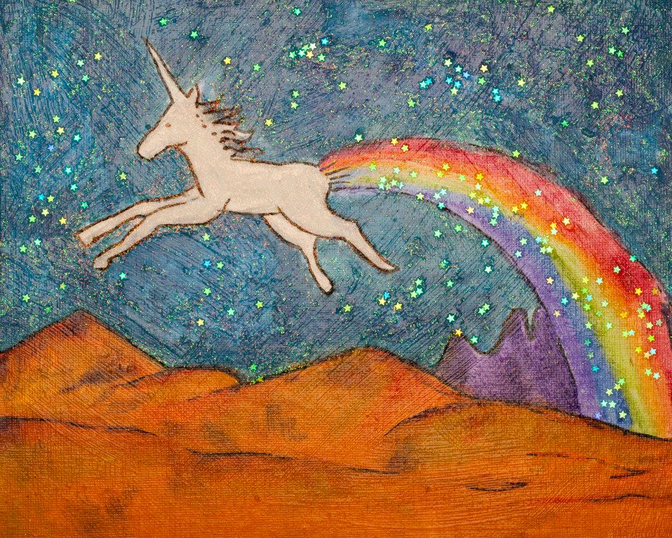 Unicorn Farting in the Sky
