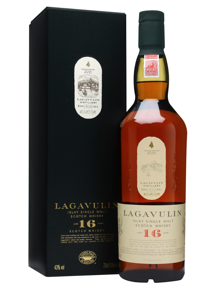Lagavulin 16 - 7. Lagavulin 16 – Average Price: $80 This whisky is not for the faint of heart! I remember the first time I tried this whisky, it was so peaty and smoky I almost couldn't drink it. But after the initial shock of something radically different than what your palette is used to, you begin to crave the warm smoky, woody notes this tremendous whisky offers.  And after some more sips you being to taste there is actually some fruitiness and some lovely sweetness, and what you thought was this big blast of smoke, is actually this wonderfully balanced powerhouse of flavor. There is not another whisky made quite like this.