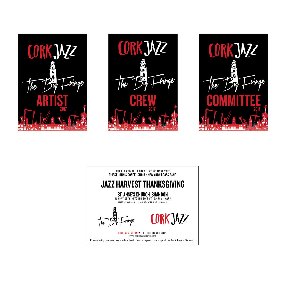 Artist Pass & Ticket Design: Cork Jazz Festival