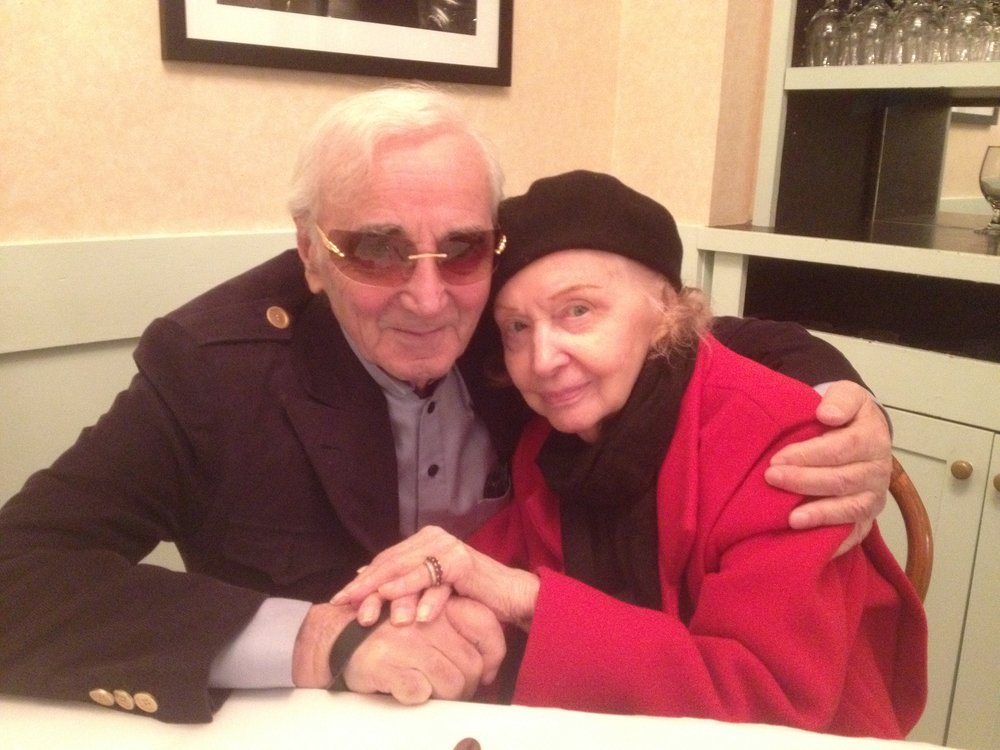 Charles Aznavour and his good friend Sybil.