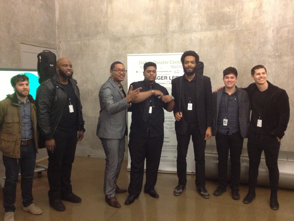 Stagger Lee Band members with composer Justin Ellington