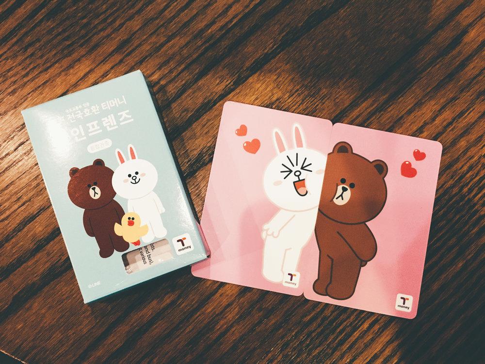 我們的T-money對卡 :)