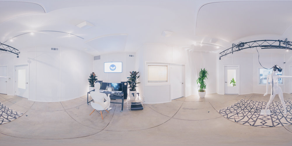 Experience Room - A 420 sq ft. live room, doubling as our room-scale XR development space.