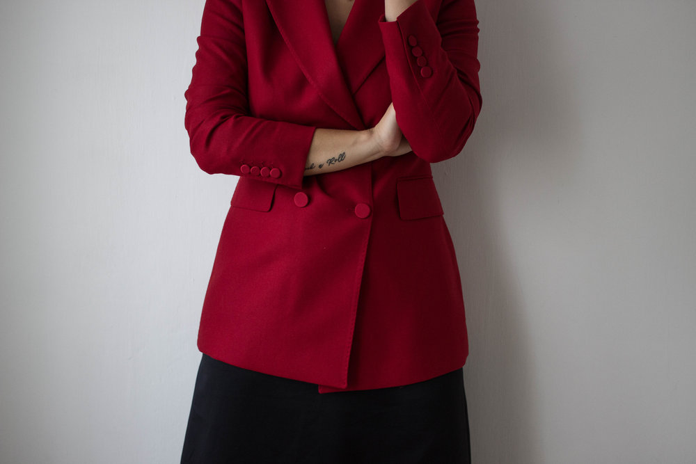 aboutthatlook, massimo dutti, fashion, red blazer