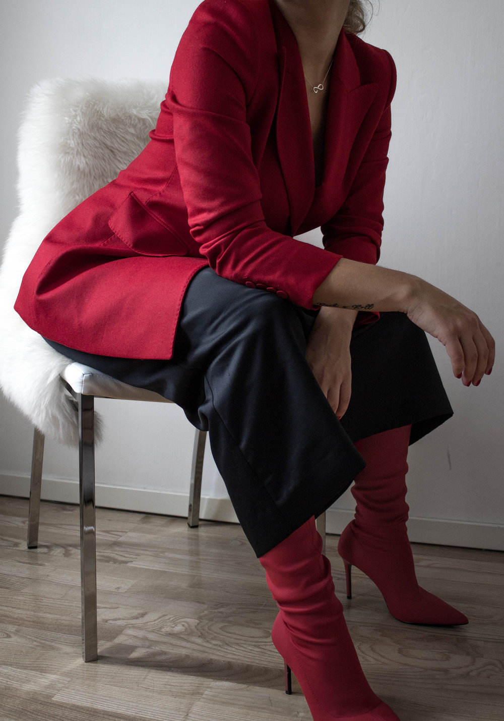aboutthatlook, massimo dutti, fashion, red blazer, mango, vintage