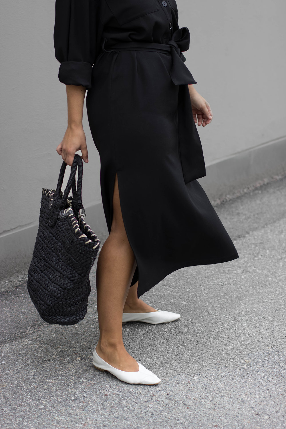 WEARING// Dress H&M / Shoes MANGO / Straw Bag    WOMEN'S SECRET