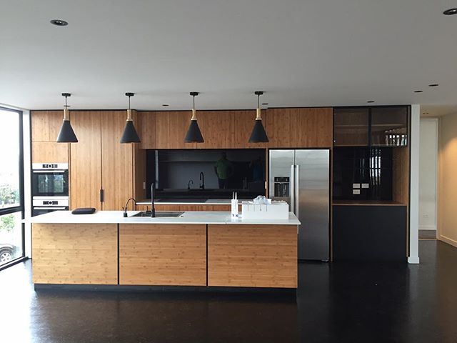 One of our latest creations. Loving bamboo plywood. #fluidinteriors #dreamkitchen