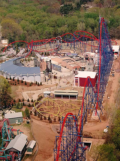 An overview of the highly rated Superman: Ride of Steel which opened with the grand opening of the park in 2000.