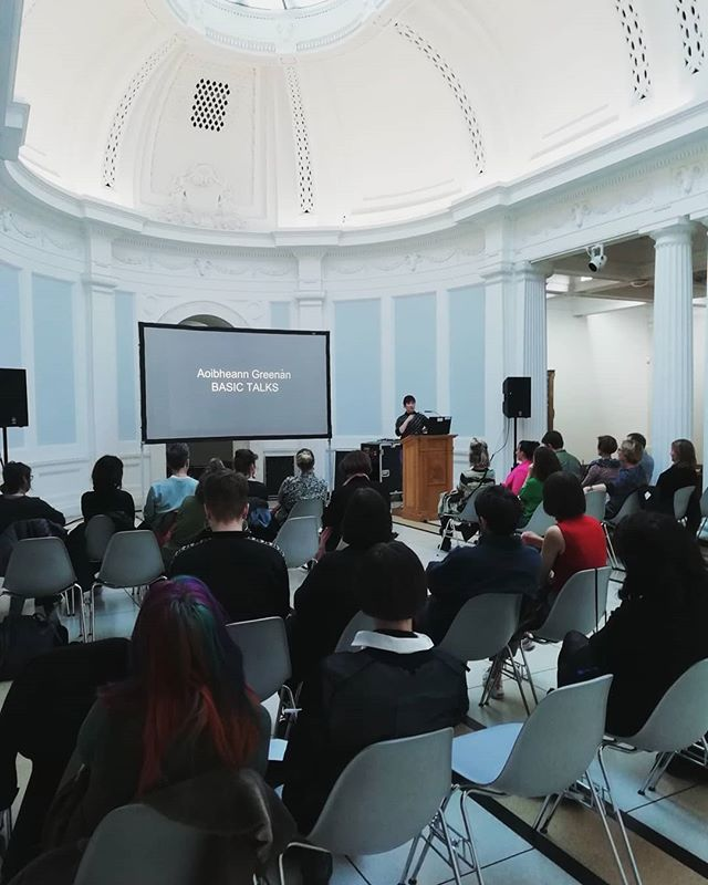 Thank you Aoibheann Greenan @rodeo.oracle for presenting today for our November #basictalk @thehughlane and to everyone who attended! Aoibheann gave a wonderful insight in to how her practice has developed over the past several years, bringing us through recent projects with @tulcafestival @mart.gallery.studios @rhagallery and @kwinstitutefcontemporaryart  We can't wait to see what's coming next! ♥️