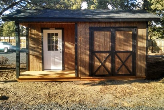 Black Butte Storage Shed - Inspired by the beautiful Black Butte mountain.