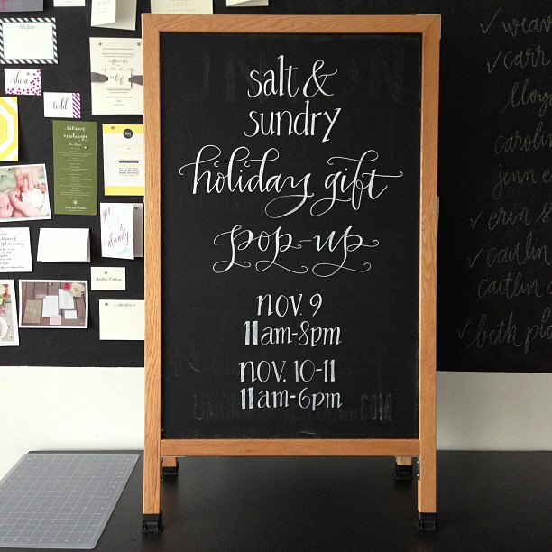 Meant To Be Calligraphy Chalkboard Lettering for Salt & Sundry.jpg