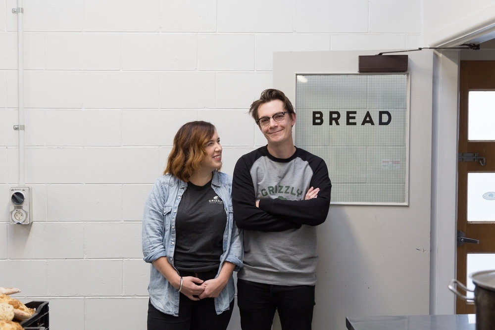 Sam and Sara Ellis own Grizzly Baked Goods
