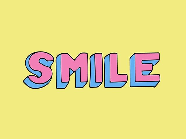 Because it's Tuesday and...why not?  #smile #tuesday #happytuesday #typography #handtype #typographydesign #design #illustrator #adobeillustrator #abobe