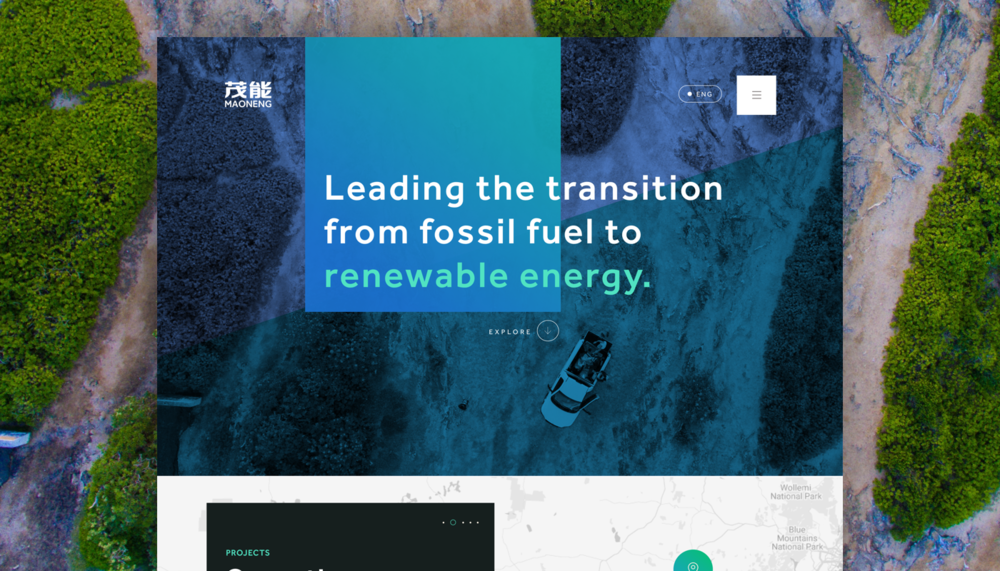 Maoneng Renewable Energy - Creating a brand presence and experience overhaul