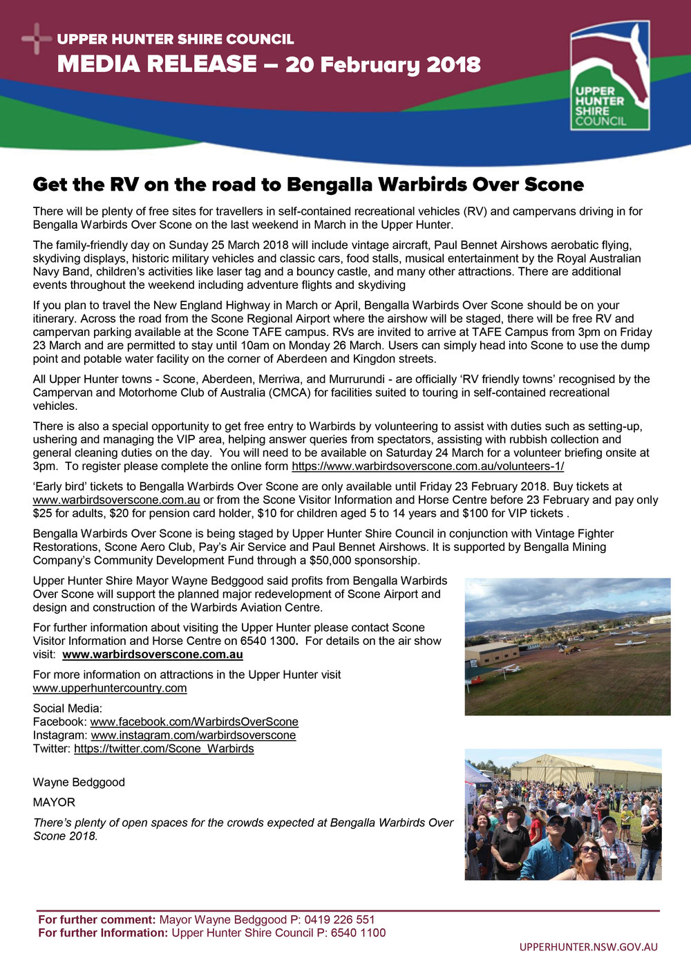 Media Release - Get the RV on the road to Bengalla Warbirds Over Scone - 20 February 2018.jpg