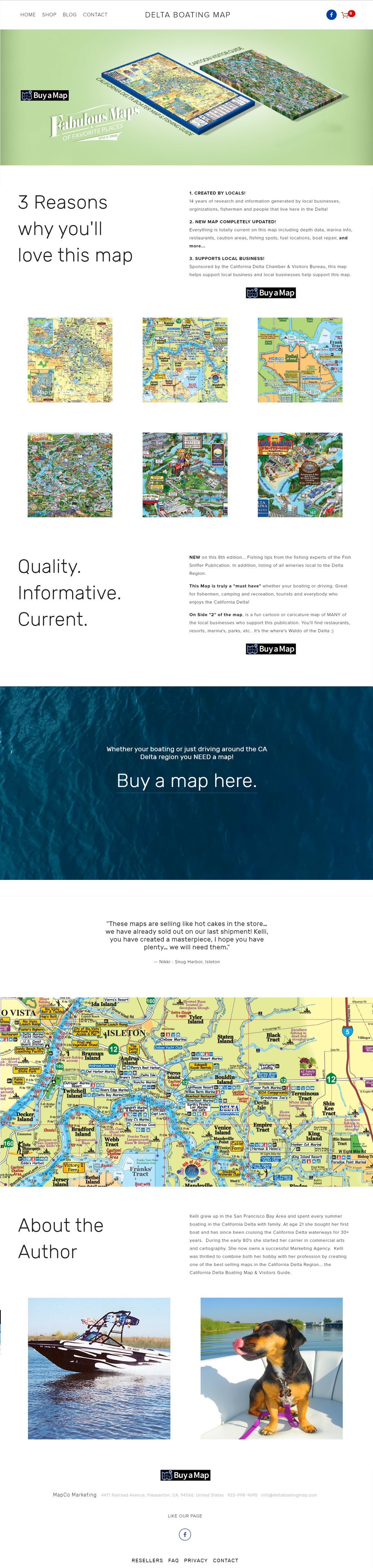 Delta Boating Map - eCommerce