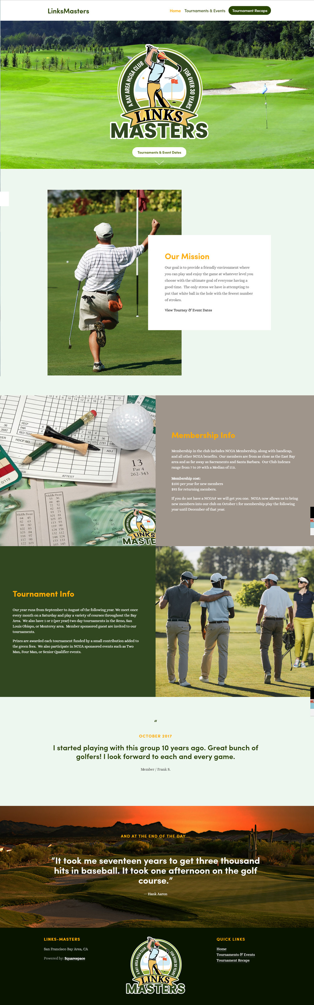 Link Masters Golf Website