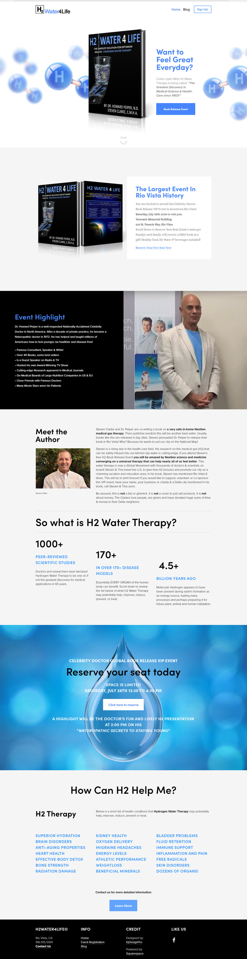 Non-Profit - H2Water4Life Website