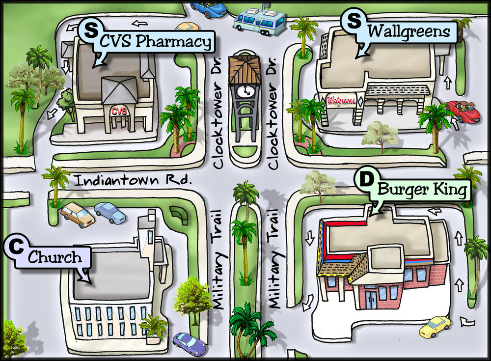 Cartoon City Map