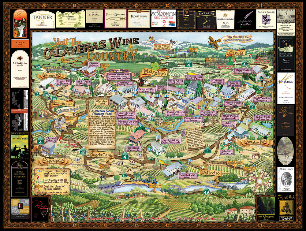 Calaveras Winery Map