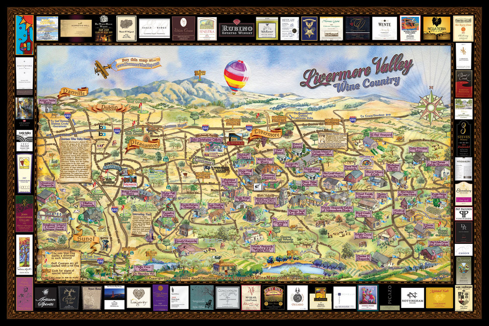 Livermore Valley Wine Map