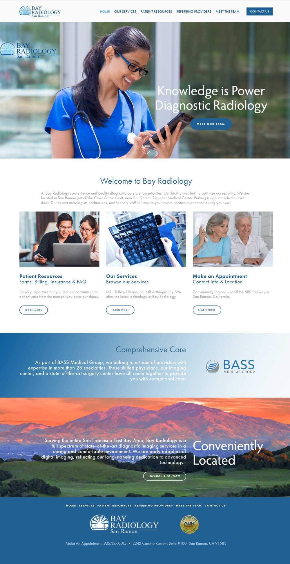 Bay Radiology Healthcare Website
