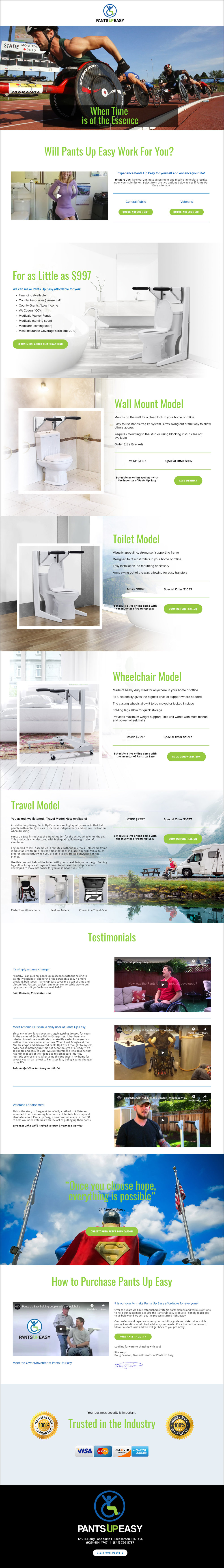 Pants Up Easy - Landing Page