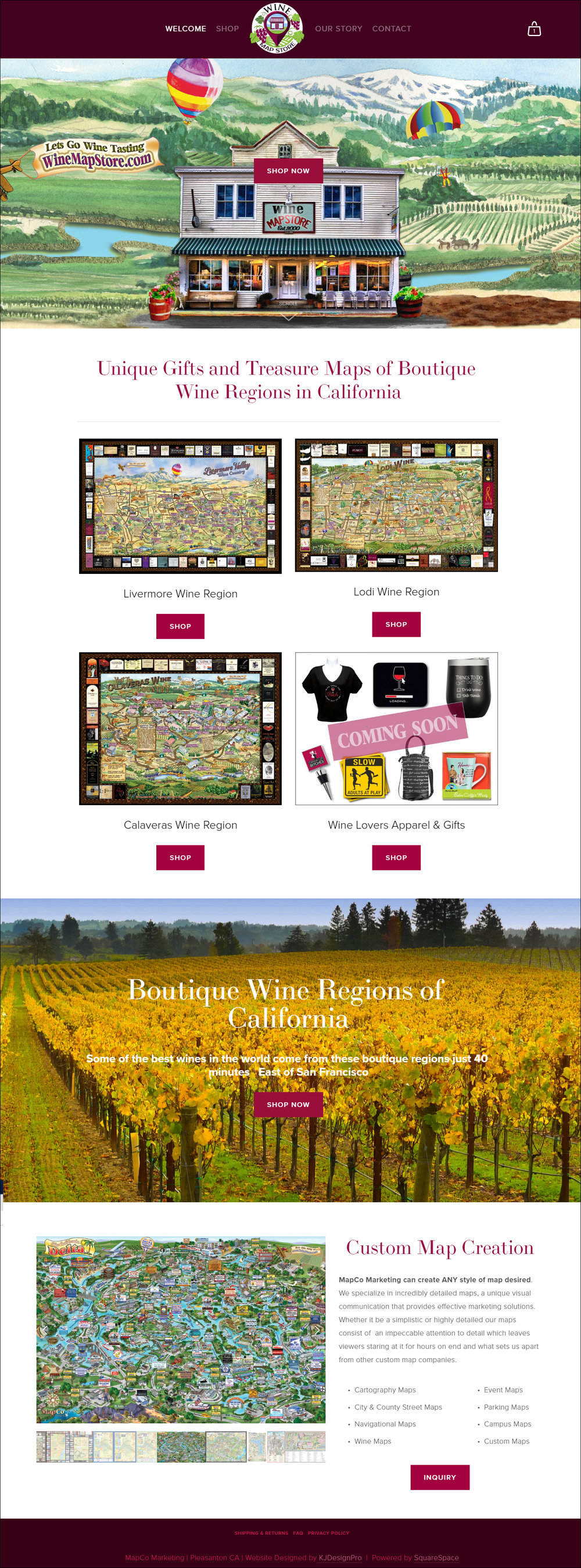 The Wine Map Store - eCommerce