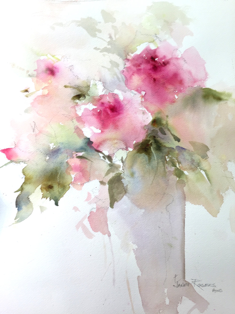 Janet Rogers Watercolor Impressions From Flowers To Figures June