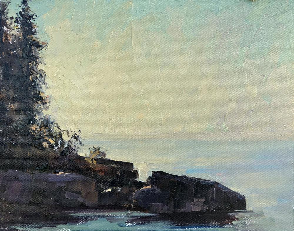 Waterscape painting by Kami Mendlik