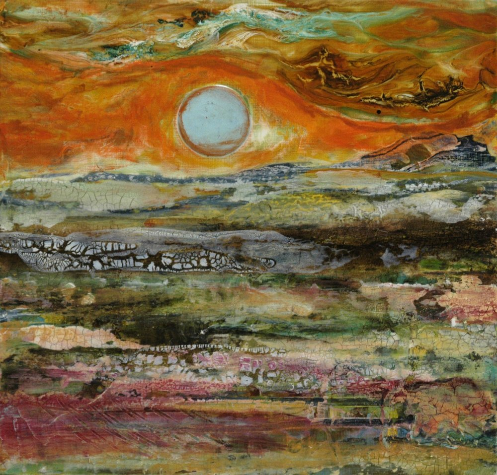 Sunset painting by Sandra Duran Wilson