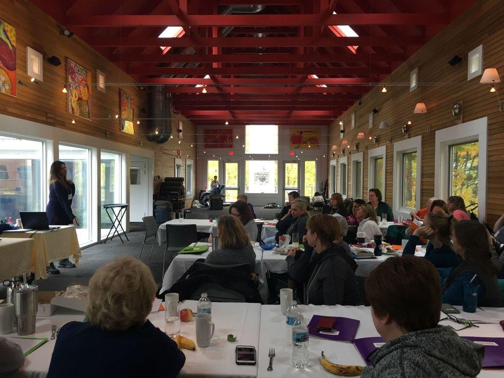 Group presentation at Wild Rice Retreat