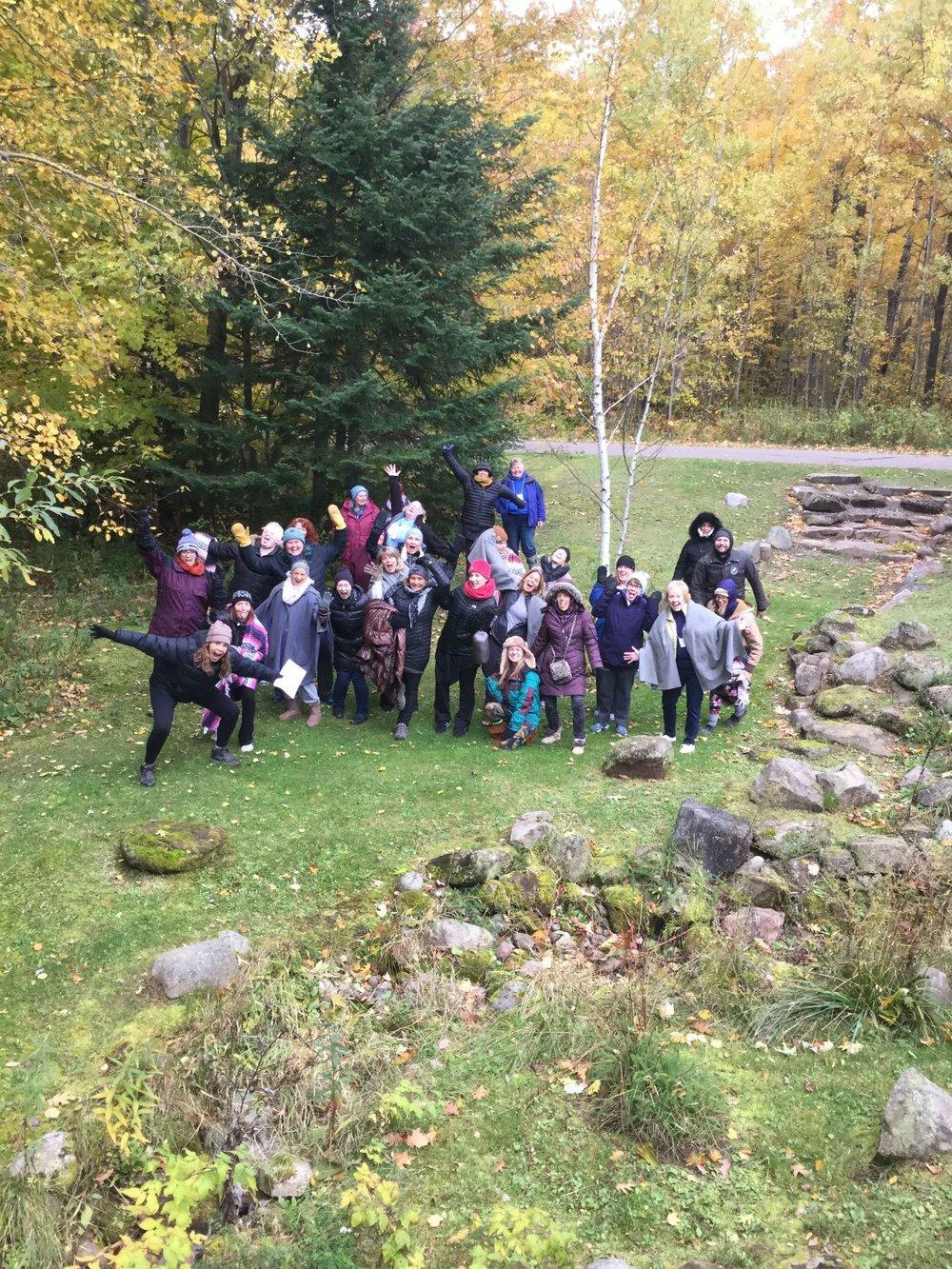 Retreat group at Wild Rice Retreat