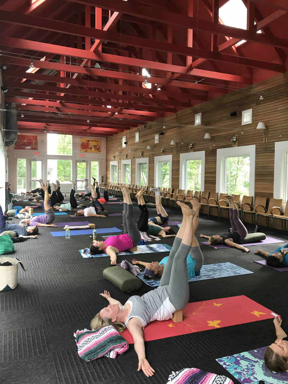 Yoga class at Wild Rice Retreat