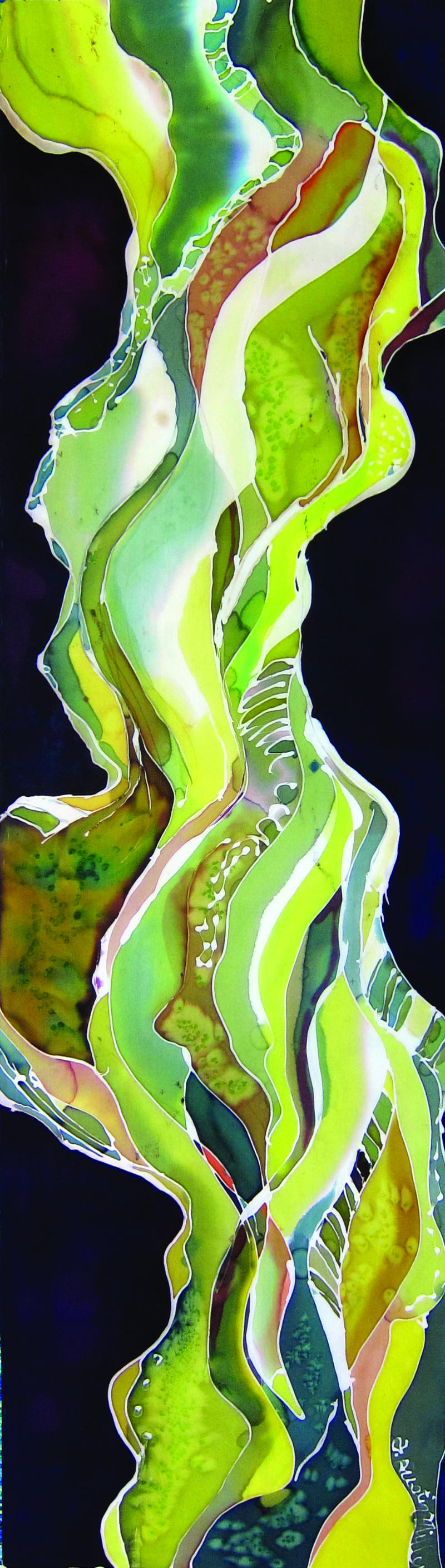 Green river silk painting