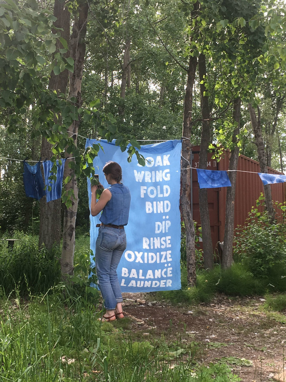 Indigo dying retreat