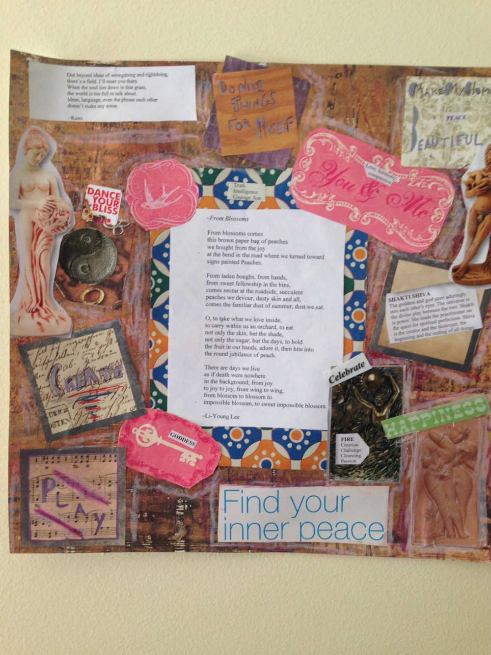 Rachel Fleischman creativity retreat collage